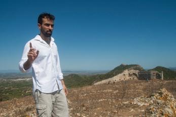 Xavi Núñez en un momento de la obra