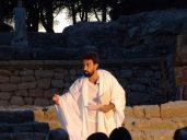Xavi Núñez como Aelio Arístides en un momento del espectáculo