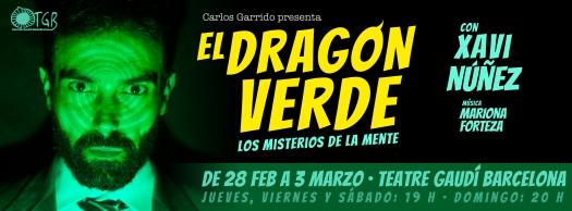 el dragon verde banner gaudi